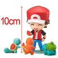 Ash Ketchum Zenigame Charmander Bulbasaur Nendoroid Figura 425 Ação Red Anime Collectible Toy Modelo