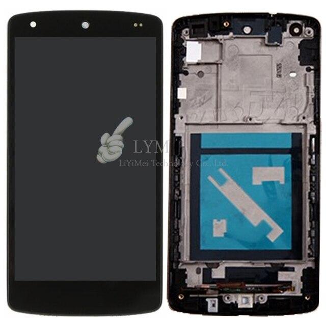 Черный ЖК + TP + Рамка для LG Google Nexus 5 D820 D821 EM01L ЖК-Дисплей + Touch Screen Digitizer Ассамблеи + Рамка Бесплатная Доставка + инструменты