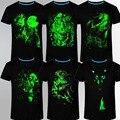 Новый Световой мужская С Коротким Рукавом Животных Череп Личность 3D Печати Шею T-Shirt