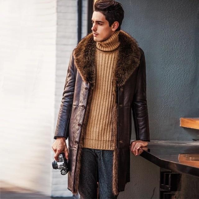 Aliexpress.com : Buy Leather suede sheepskin coat men genuine