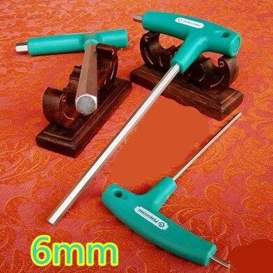 2pcs t type 6mm hex key crv steel t handle spanner wrench for Honda crv wrench light