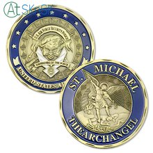 1PC St. Michael the Archangel Military Airman Challenge Coin United States Air Force Security Police Collectible Gift
