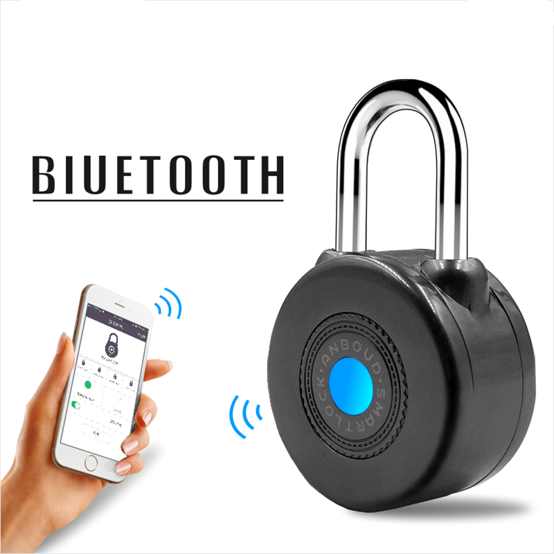 Newest Bluetooth Smart Lock Anti Theft Alarm Lock for Cycling Motorycle Door with APP Control home electronic invisible wireless locks stealth remote control smart dark lock anti theft door lock