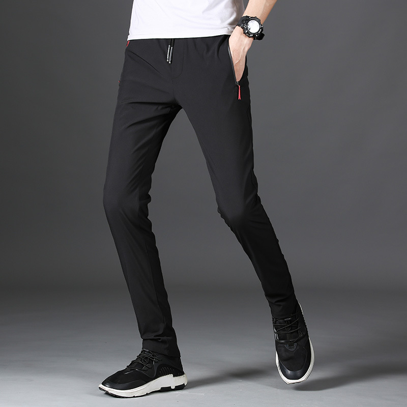 MRMT 2020 Brand Mens Black Trousers Casual Straight Breathable Men Clothes Youth Fast Dry Men's Pants Slim Thin Men's Trousers