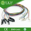 20 pcs/Lot Free shipping ! Molded Din 1.5 EEG cable with siliver plated cup electrodes with colorful cable