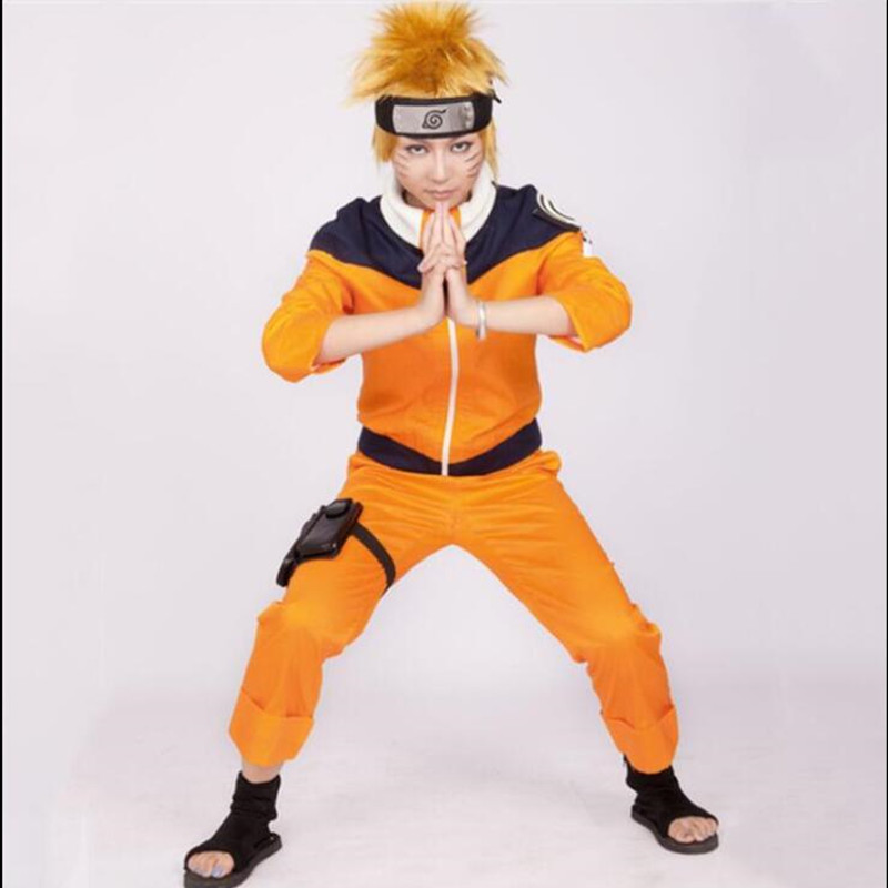 Anime Cos NARUTO Uzumaki Naruto Cosplay Anime Man Woman Costume Japanese Cartoon Costumes Top+pants For Boys Girls Show Suits
