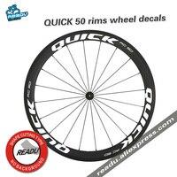 QUICK bicicleta de carretera llantas pegatinas morir volar llantas pegatinas 50mm pegatinas bicicleta para dos ruedas calcomanías