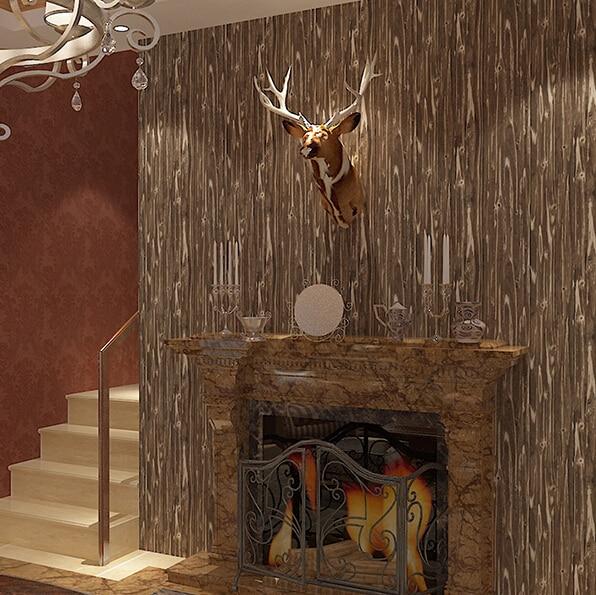 Aliexpress 3D Retro Holz Tapete Wohnzimmer Schlafzimmer Flur Gepragte Pvc Wasserdichten Tapetenbahn Wandtapete Von Verlasslichen