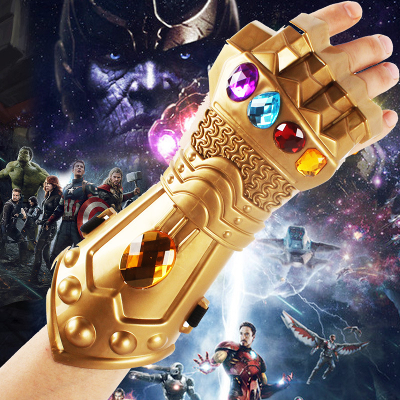 New Avengers Endgame Thanos Gloves Cosplay Prop Avengers Gem Glove Infinity Gauntlet Kids Child Toy Halloween Party Props