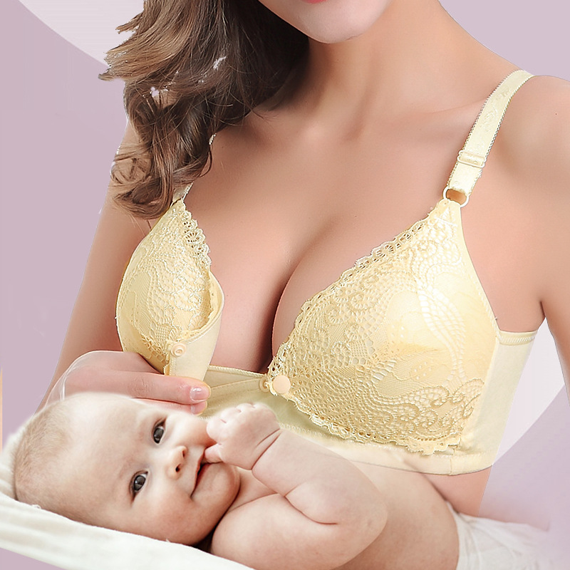 Pregnant Underwear Maternity Nursing Bra Front Button Tank Women`s Front Hasp Wirefree Lady Pregnant Breastfeeding Pregnancy Bra