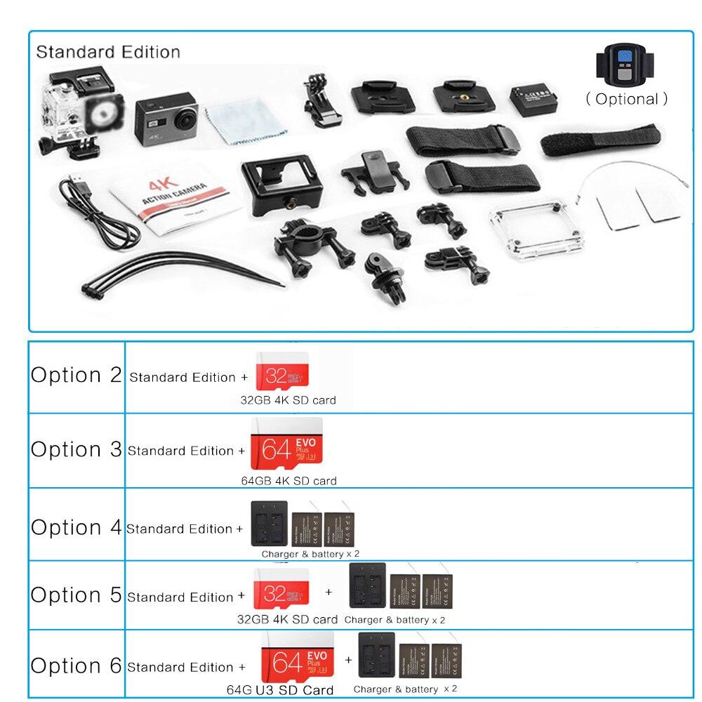 4 K Ultra Hd F68 F68r Eis Action Kamera Novatek 96660 Chipsatz Sony Imx078 Sensor Gopro Stil Wi-fi Remote Waterpoof Kamera Unterhaltungselektronik