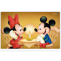 Mickey Mouse Cartoon Candlelit Dinner Diamond Embroidery Mosaic Painting Embroidery With Diamonds Diamond Painting Cross Stitch