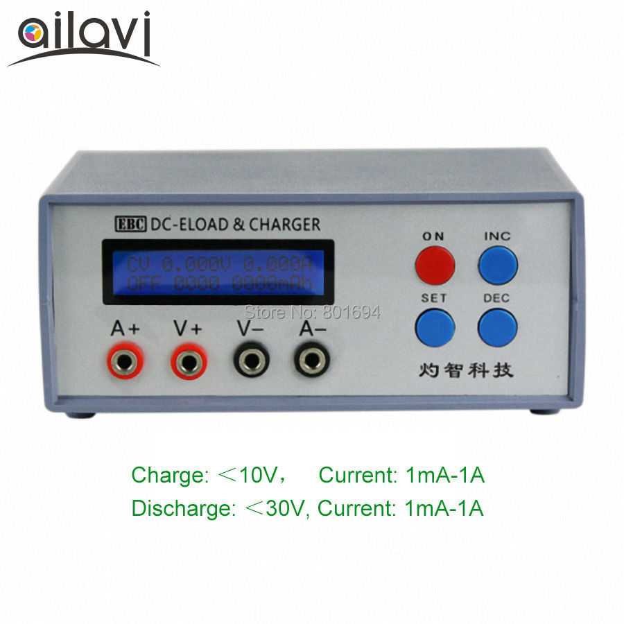 EBC-A01 Multifunction Electronic Load Tester 0-30V 1A CR Button/Small Capacity Lithium Battery and AAA Aneroid Battery Test ebc a40l high current battery capacity tester battery line graph battery tester battery testing 20acharge 40a discharge