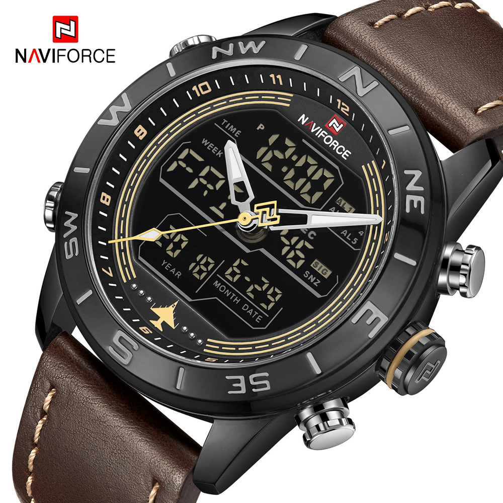 NAVIFORCE Watch Luxury Brand Men Analog Digital Sport Watches Fashion Men Army Military Wrist Watch Waterproof Male Quartz Clock