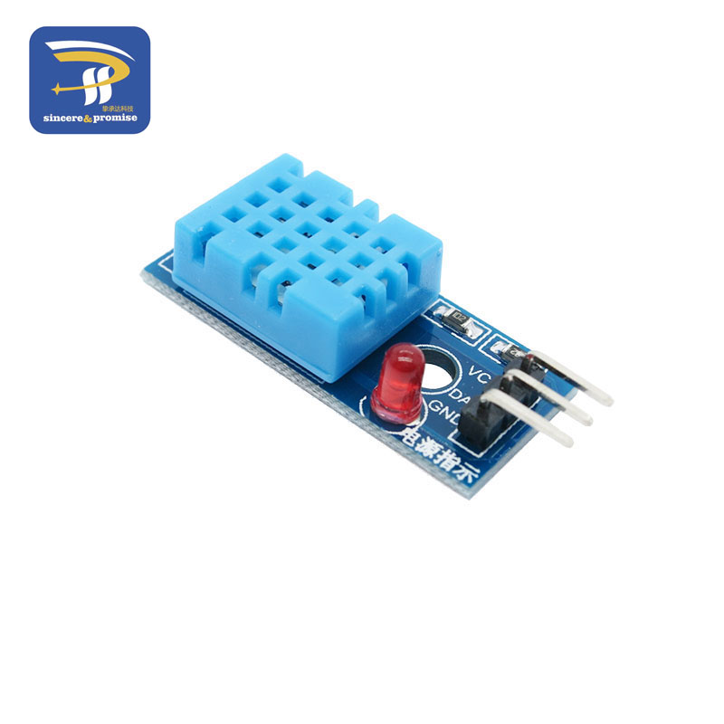 Цифровой датчик температуры и влажности DHT11 светодиодный модуль электронные строительные блоки с линией Dupont для Arduino - Цвет: Blue
