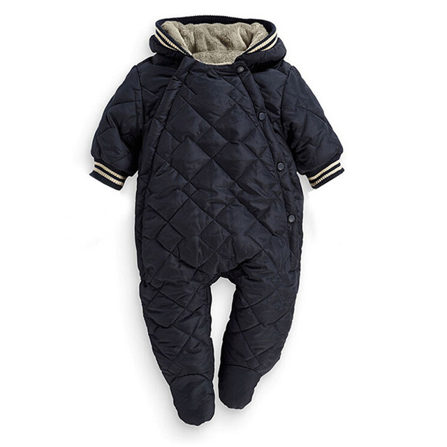 New Top Quality inverno quente Do Bebê macacão com capuz roupas grossas de inverno do bebê inverno macacão vetement enfant Roupas De Bebe N23