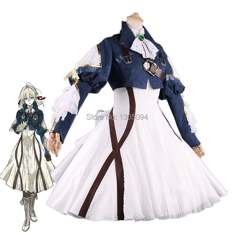 New Anime Violet Evergarden Cosplay Costume Auto Memory Doll Girls Halloween Carnival Dress Medieval Gothic Uniform Custom Made