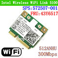 Dual band Intel Wifi 5100 512AN_HMW Беспроводной 300 Мбит 802.11 agn Половина WLAN CARD SPS: 572507-001 FRU: 43Y6517