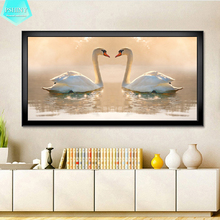 PSHINY 5D DIY Diamond embroidery sale Love Swan animal Full drill Square rhinestones pictures Painting new arrivals