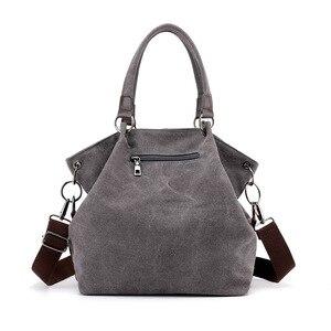 Image 3 - High Quality Canvas Women Handbag Casual Large Capacity Hobos Bag Hot Sell Female Totes Bolsas Trapeze Ruched Solid Shoulder Bag