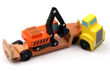 New Wooden Baby Toy Truck Haulage Excavator Toys Gifts