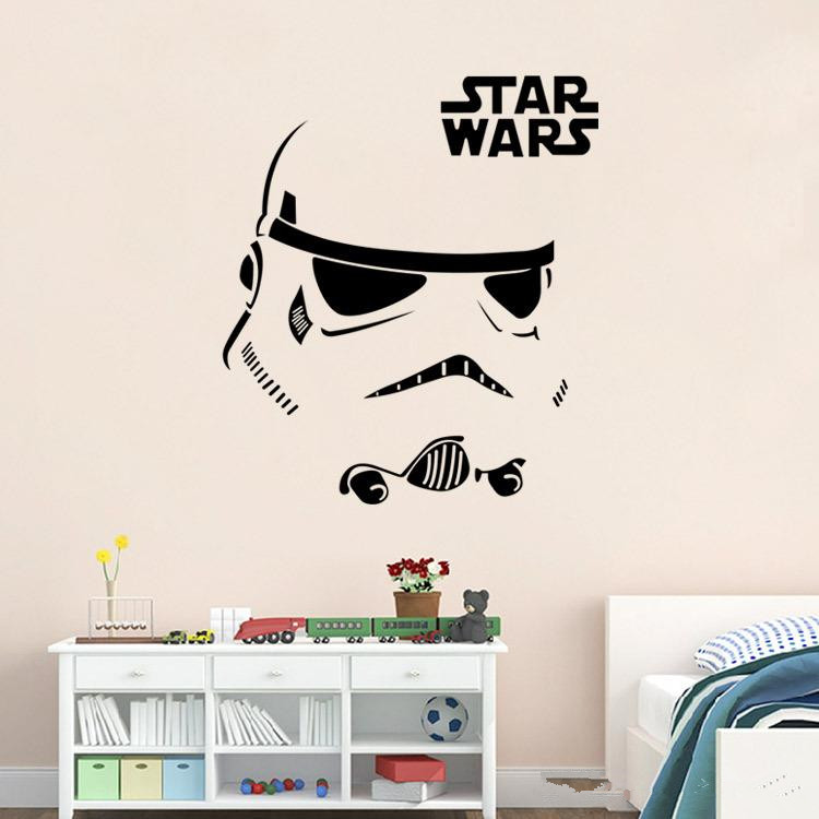 Star Wars Symbol Wall Decal Logo Vinyl Stickers Home Interior Design Nursery Art Office Murals Bedroom Decor
