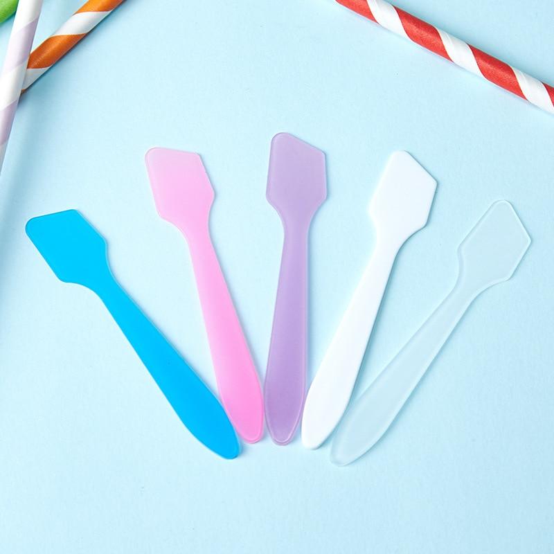 100PCS/LOT DIY Plastic Facial Face Mask Stick Cream Mixing Spatulas Spoon Makeup Cosmetic Make Up Tools