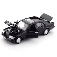 Zhenwei Mercedes-Benz S W140 1:32 модель автомобиля из сплава звуковая лампа вытяжной свет звуковой сплав Модель автомобиля игрушки для детей