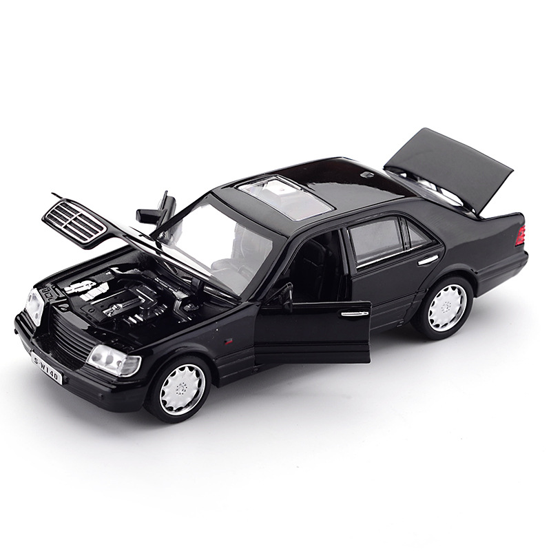 Zhenwei Mercedes-Benz S W140 1:32 Alloy <font><b>Model</b></font> <font><b>Car</b></font> Sound Light Pull-back Light Sound Alloy Vehicle <font><b>Model</b></font> Toys for Children image
