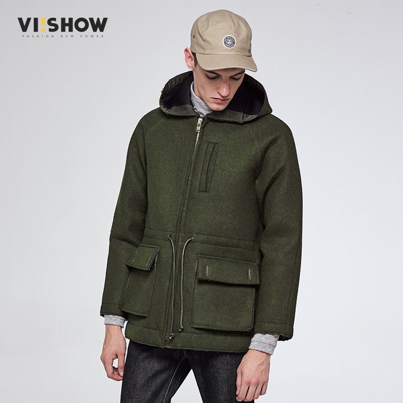 VIISHOW 2017 New   Trench   Coat Men Brand Clothing Top Quality Male Long Army Green   Trench   Hombre Coat Windbreaker Jacket FC36864