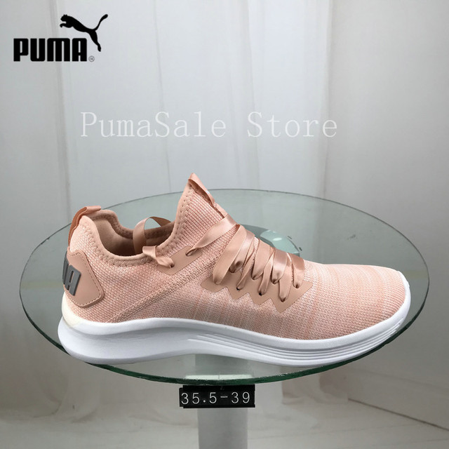1d4cf3556967dd 2018 Original PUMA Women s Ignite Flash Evoknit Sneaker Knit Woven Sneakers  Breathable Runs Badminton Shoes Size 35.5-39