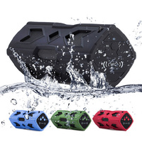 Sport Outdoor Portable Bluetooth Speaker 3600mAh Waterproof 4.0 NFC Induction Speajer Green with USB 1PC