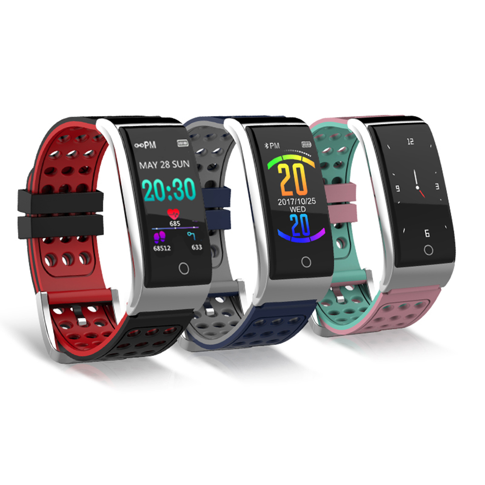 Smart Bracelet Fitness Tracker Smart Wristband Heart Rate Monitor ECG/PPG Blood Pressure Smart Band Watch for IOS Android Phone dawo ecg smart bracelet blood pressure smart wristband heart rate temperature pedometer bluetooth fitness band for ios android