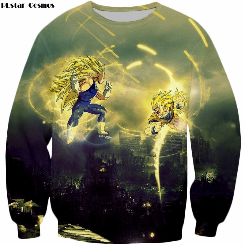 PLstar 2018 new fashion 3D print Sweatshirts Men Women Outerwear Dragon Ball Goku DBZ Kids pullovers Sweatshirt pullover tops