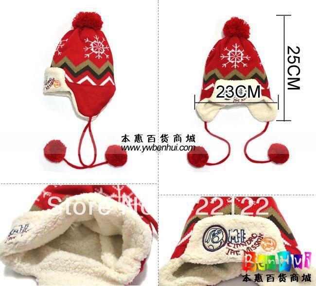 Winter Keep Warm Knitted Hats For Boy/girl/kits Hats,infants Caps Beanine Chilldren-Ladybird Beetle Cap Hat Scarf Mz0547 1pcs
