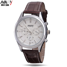 NARY Amantes Da Marca de Pulso de Moda relógios de Pulso dos homens Relógios com pulseira de Couro Designer de Senhoras de Luxo Relógio Casual Para As Mulheres