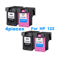 4pcs XiongCai Compatible ink cartridges For HP 122 Deskjet D1000 2050 3050 3050A 3052A 3054A printers cartridge For HP122 122XL