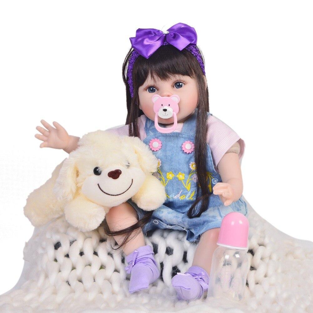 KEIUMI Vendita Calda 22 Pollici Reborn Baby Doll 55 centimetri di Stoffa Del Corpo Vivo Realistica Neonato Bambini Bambola Per Il Bambino di Natale regali di compleanno-in Bambole da Giocattoli e hobby su  Gruppo 2