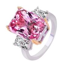 LOREDANA  Big pink CZ Cubic Zircon Stone Silver Rings for Women Fashion Jewelry Valentines Day Gift loredana del monte куртка