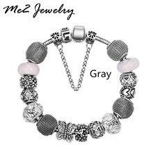 Pan plating european fit charm bracelets bracelet silver diy jewelry women