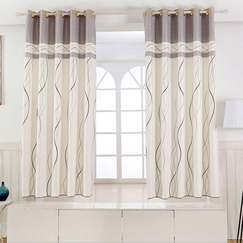 1 Panel Short Curtains Window Decoration Modern Kitchen Drapes Striped Pattern Children Bedroom Color Of 6 B16202 In From Home Garden