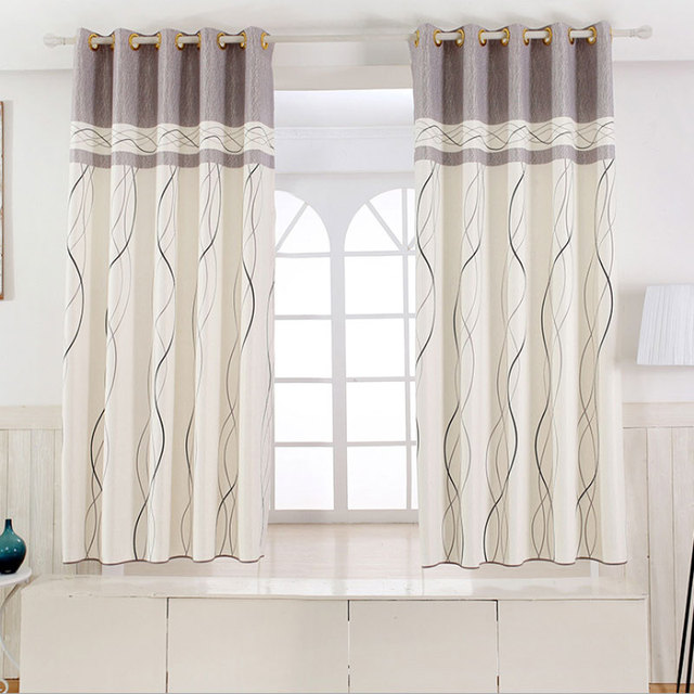 1 Panel Short Curtains Window Decoration Modern Kitchen Drapes Striped Pattern Children Bedroom Color