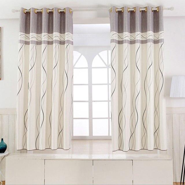 1 panneau court rideaux fen tre d coration moderne cuisine rideaux motif ray enfants chambre. Black Bedroom Furniture Sets. Home Design Ideas