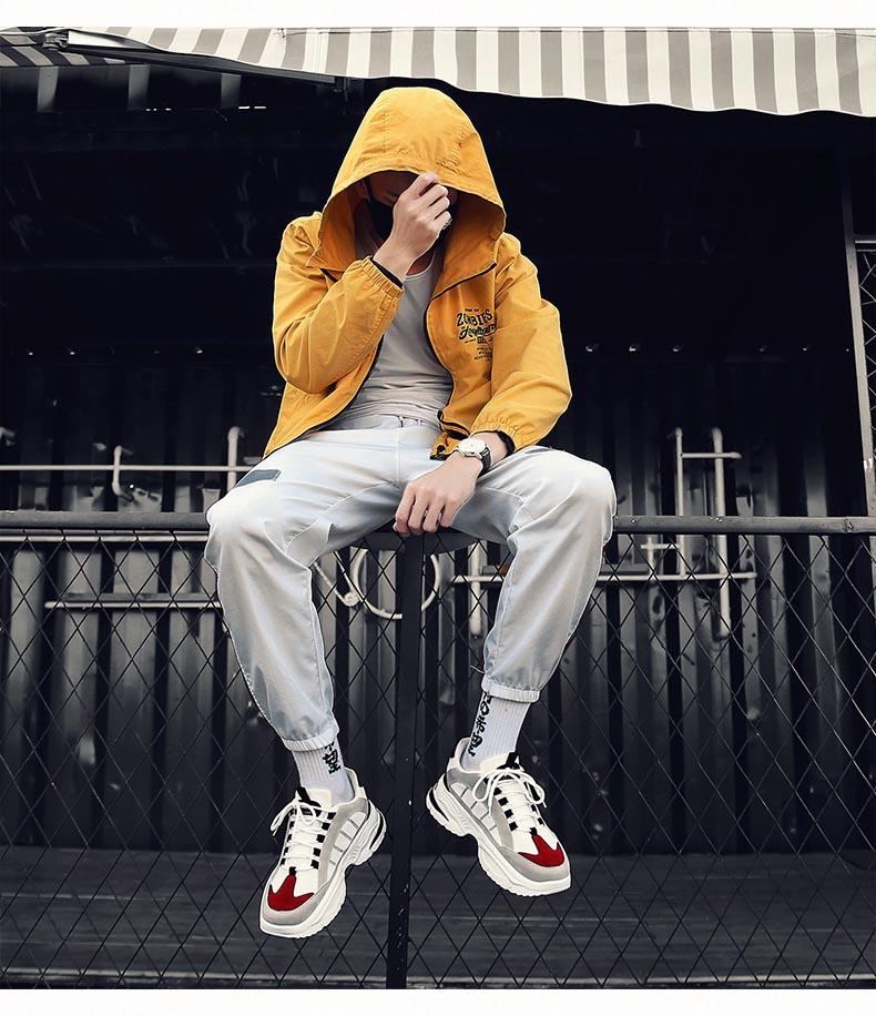 HTB1Adtfa4 rK1RkHFqDq6yJAFXaw BomKinta Stylish Designer Casual Shoes Men Yellow Sneakers Black White Walking Footwear Breathable Mesh Sneakers Men Shoes