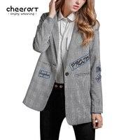Women Blazers And Jackets Plaid British Style Jacket Blazer Ladies Short Coat Casual Spring Autumn Femme