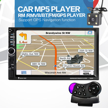 NEW Store!Car Electronic 2 din Car mp4 mp5 Player GPS Navigation 7inch 2din Universal Car Radio In Dash Stereo Video Free Map