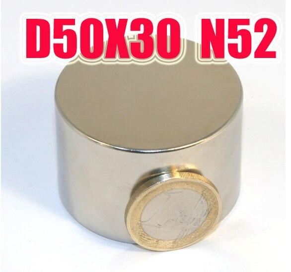 50*30 1 PC 50mm x 30mm Grand aimant néodyme n52 super puissants aimants ndfeb neodimio imanes détient 85 kg