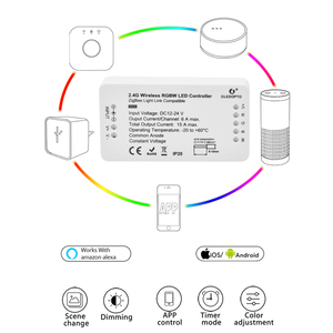 Image 2 - 지그비 스마트 led 컨트롤러 아마존 에코 tradfri 호환 led 컨트롤러 rgb cct ww cw 지그비 컨트롤러 led 조광기