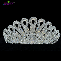 High Quality Austrian Crystal Peacock Tiaras Crown for Women Wedding Jewelry Hair Accessories Gift SH8557