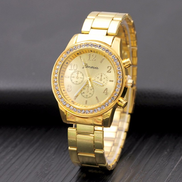 Relogio Feminino Women Watch Rose Gold Silver Fashion Women Bracelet - Կանացի ժամացույցներ - Լուսանկար 3